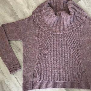 Light purple cowl neck sweater